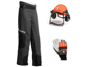 Special offer - Husqvarna chainsaw protective kit - only £119 or just £99 when purchased with any chainsaw